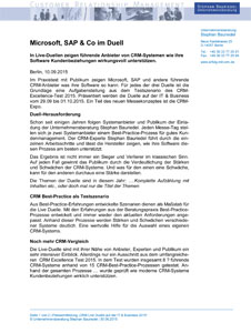 Pressemitteilung Unternehmensberatung Stephan Bauriedel