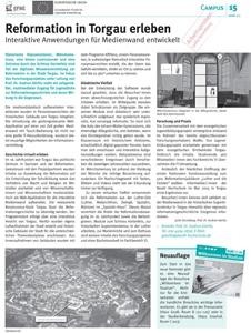 Beuth Hochschule Presseartikel zu Reformation in Torgau und IT
