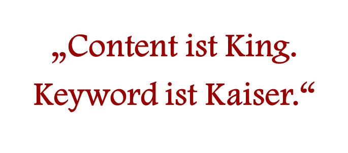 Content ist King