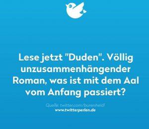 Twitter - Duden als Roman