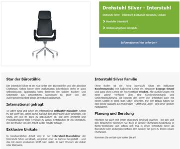 Büromöbelhändler HEVIS Bürokonzept-SEO-texte