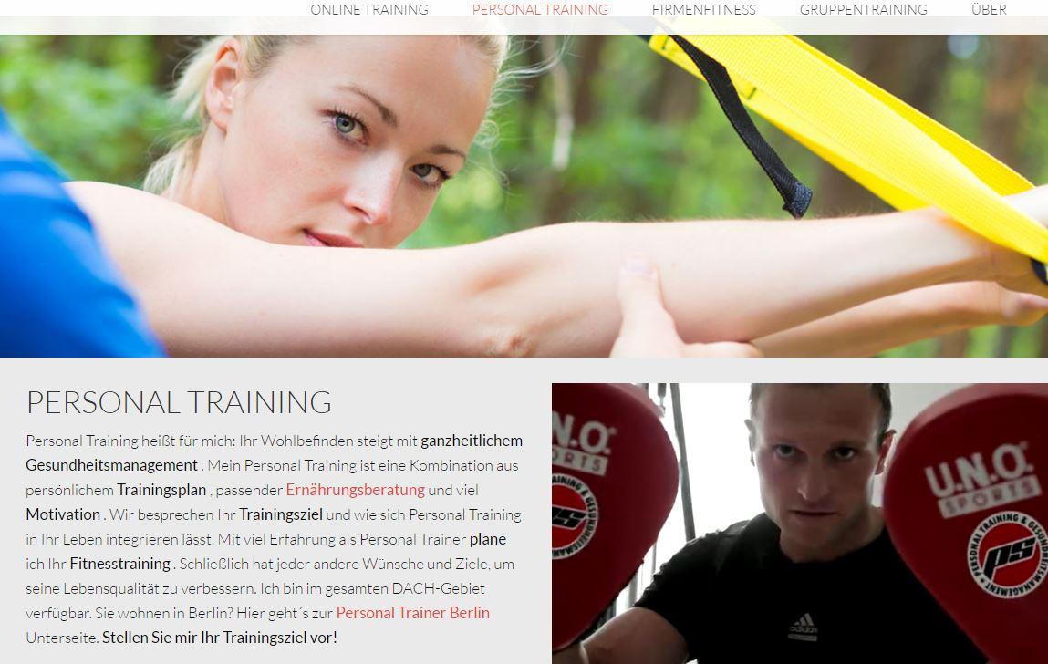 Personal Trainer Patrick Schreiber - Webseite
