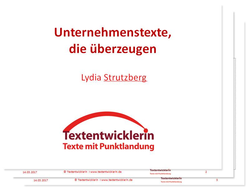 Unternehmenstexte-Vortrag