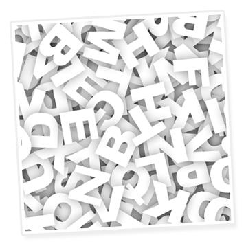 Text-Projekt-Buchstaben