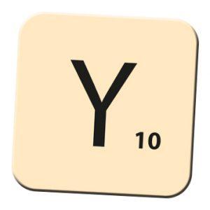 Y - wertvoller Buchstabe
