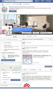 Büromöbelhändler HEVIS Bürokonzept - Social Media